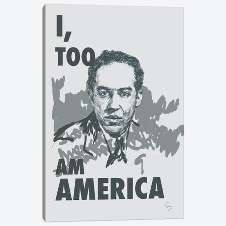Langston Hughes - I Too Canvas Print #GND45} by GNODpop Canvas Art Print