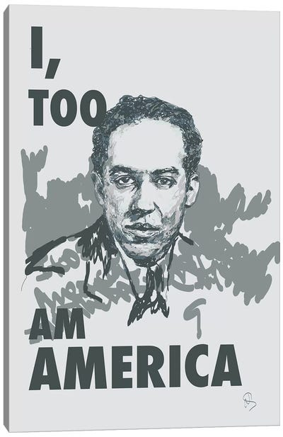 Langston Hughes - I Too Canvas Art Print