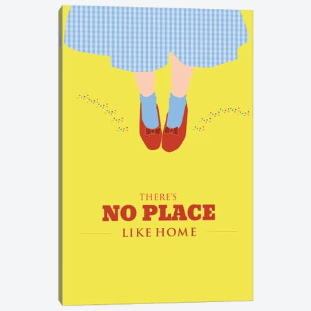 No Place Like Home Canvas Print #GND46} by GNODpop Canvas Print