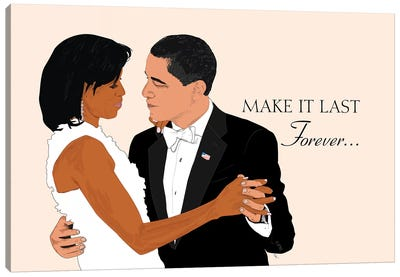 Obamas - Make It Last Forever Canvas Art Print