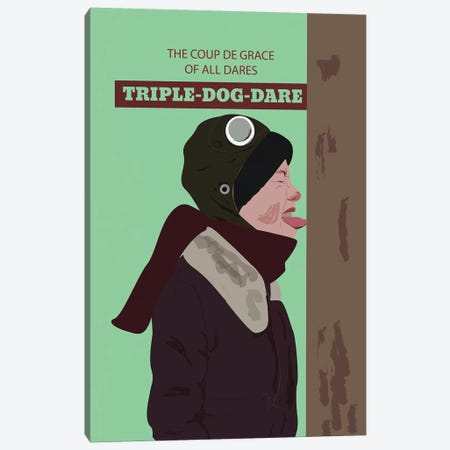 Triple Dog Dare Canvas Print #GND49} by GNODpop Canvas Wall Art