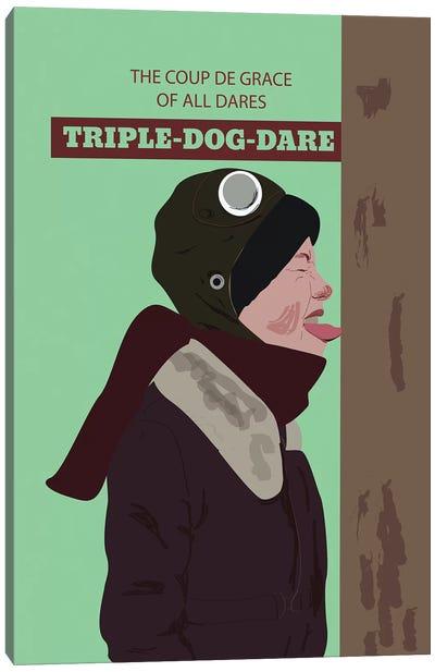 Triple Dog Dare Canvas Art Print