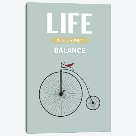 Balance Canvas Print #GND4} by GNODpop Canvas Art Print