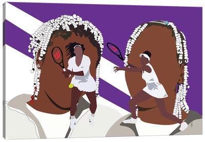 Venus and Serena - Sisters Canvas Art Print