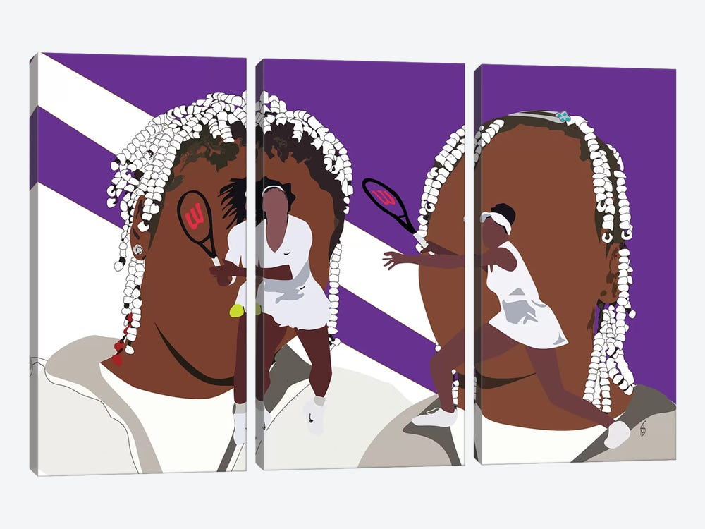 Venus and Serena - Sisters by GNODpop 3-piece Canvas Wall Art