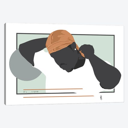If You Know - Ode To The Durag II Canvas Print #GND53} by GNODpop Canvas Print