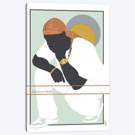 Durags N Riches - Ode To The Durag III Canvas Print #GND54} by GNODpop Canvas Art