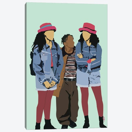 Sister Sister Canvas Print #GND55} by GNODpop Canvas Artwork
