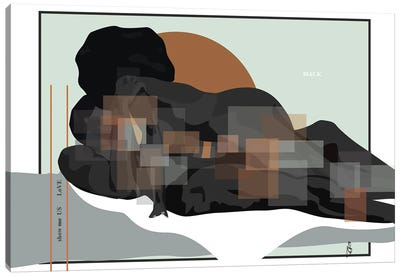 Show Us Love Black Canvas Art Print
