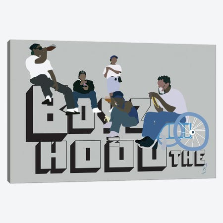 Boyz N The Hood Canvas Print #GND5} by GNODpop Canvas Art Print