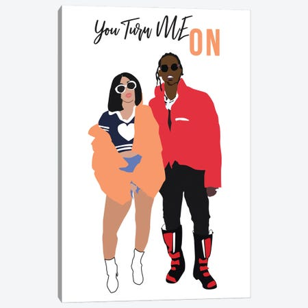 You Turn Me On Canvas Print #GND67} by GNODpop Canvas Art Print
