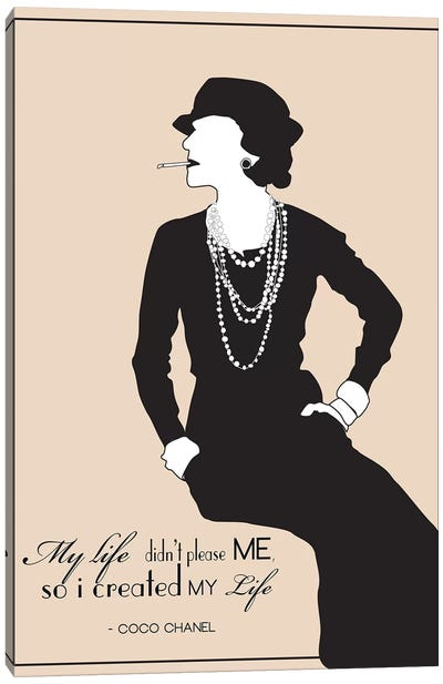 Coco Chanel Canvas Art Print