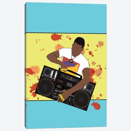 Do The Right Thing - Radio Raheem Canvas Print #GND9} by GNODpop Canvas Wall Art