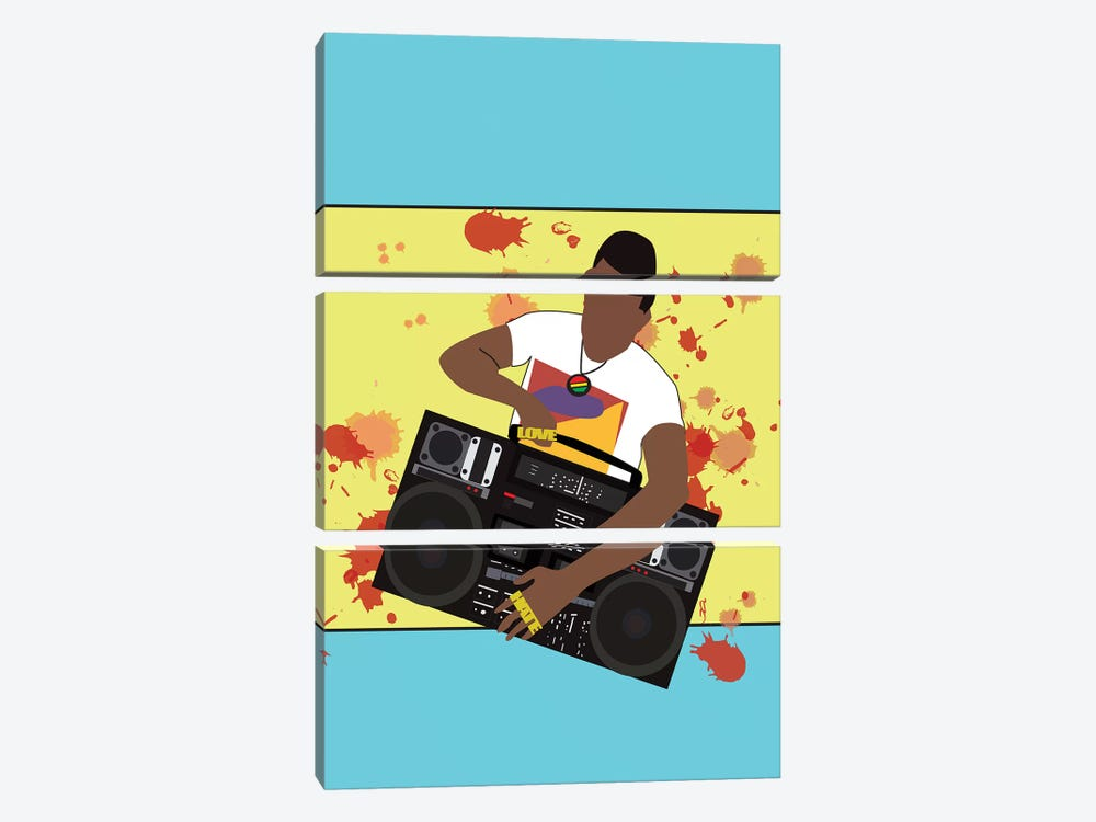 Do The Right Thing - Radio Raheem by GNODpop 3-piece Canvas Art Print