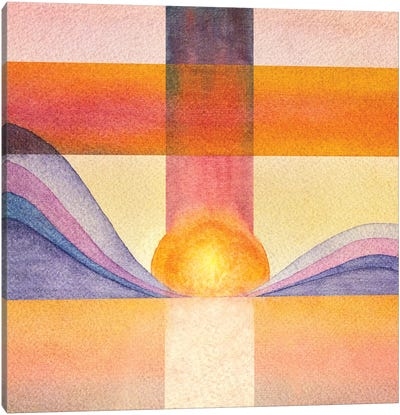Trippy Landscape IX Canvas Art Print