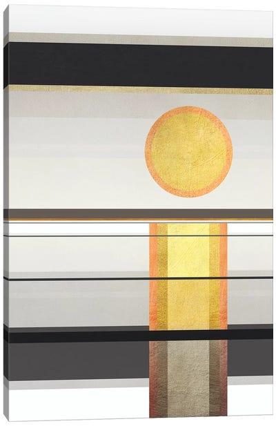 Geometric Trippy Landscape 1 Canvas Art Print