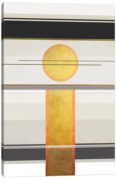 Geometric Trippy Landscape 2 Canvas Art Print