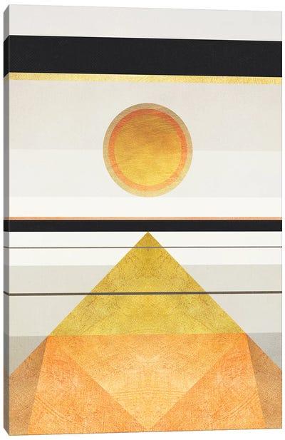 Geometric Trippy Landscape 3 Canvas Art Print