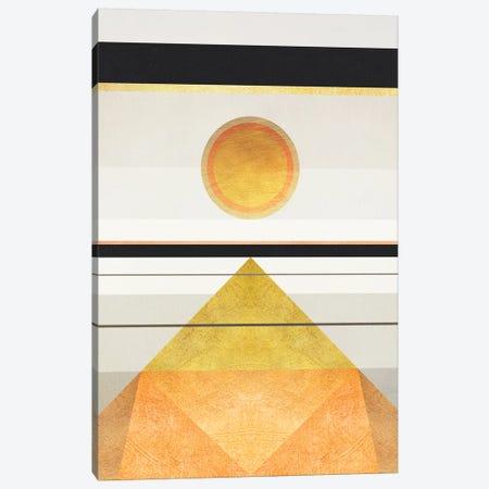 Geometric Trippy Landscape 3 3-Piece Canvas #GNZ105} by Marco Gonzalez Canvas Print