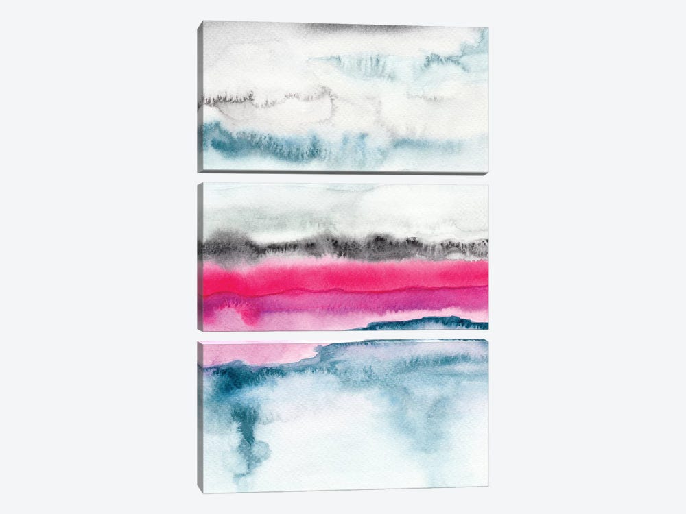 Abstract XXI by Marco Gonzalez 3-piece Canvas Artwork