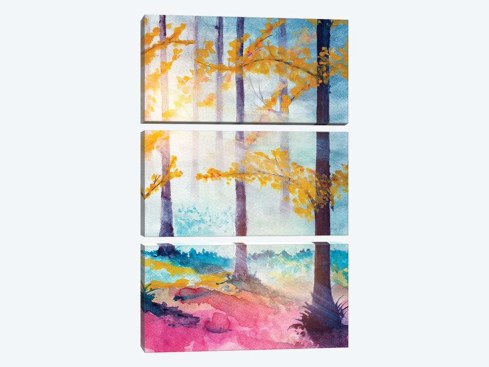 In The Forest VI by Marco Gonzalez 3-piece Canvas Wall Art