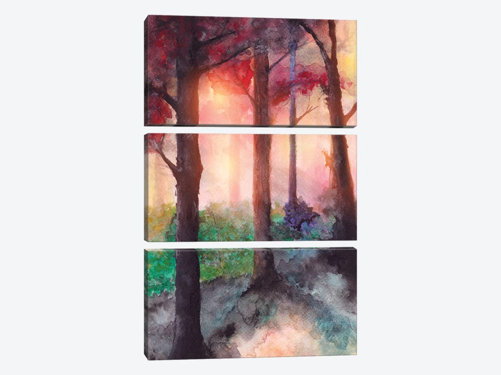 In The Forest VII by Marco Gonzalez 3-piece Art Print