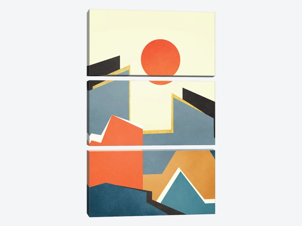 Abstract Architecture III by Marco Gonzalez 3-piece Canvas Art