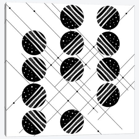 Black & White Graphic III Canvas Print #GNZ56} by Marco Gonzalez Canvas Wall Art