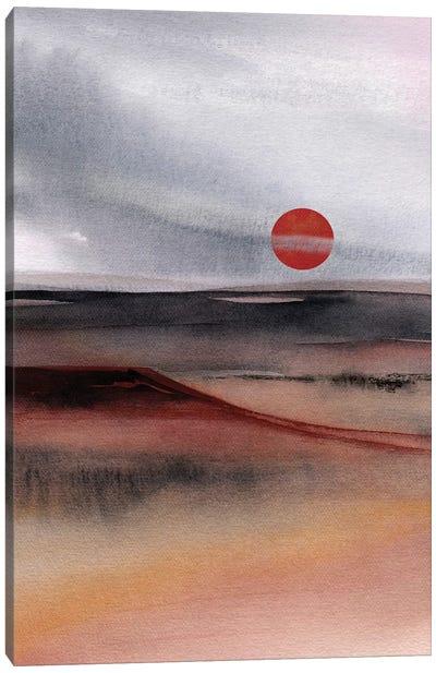 Red Sun III Canvas Art Print