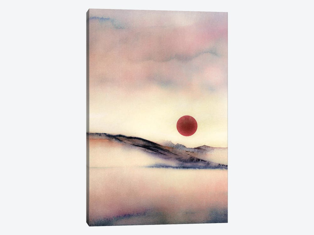 Red Sun VII by Marco Gonzalez 1-piece Canvas Wall Art