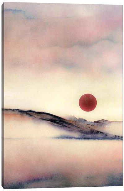 Red Sun VII Canvas Art Print