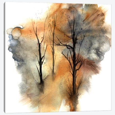 Watercolor Trees III Canvas Print #GNZ71} by Marco Gonzalez Art Print