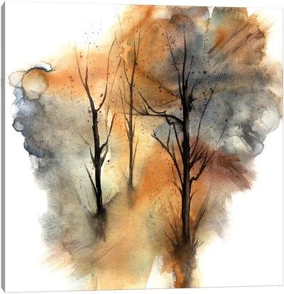 Watercolor Trees III Canvas Art Print