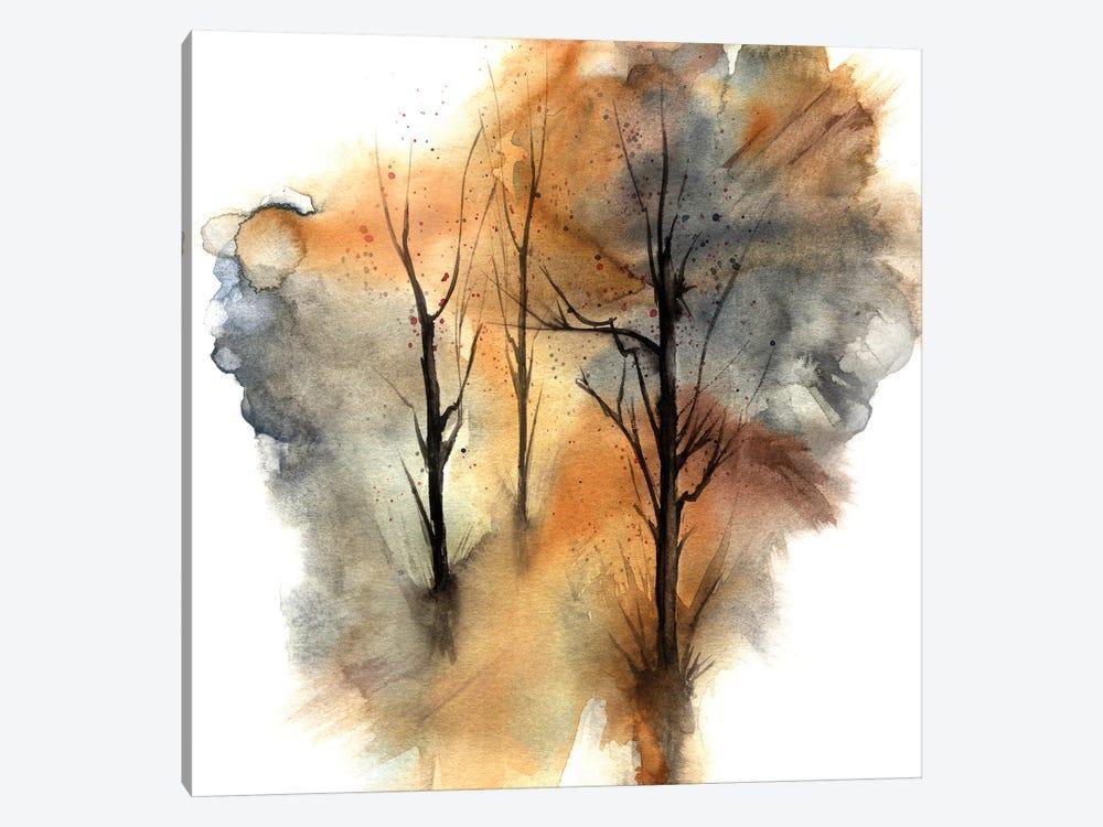 Watercolor Trees III by Marco Gonzalez 1-piece Canvas Print