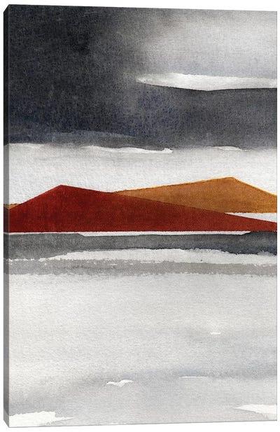 Abstract Watercolor Landscape III Canvas Art Print