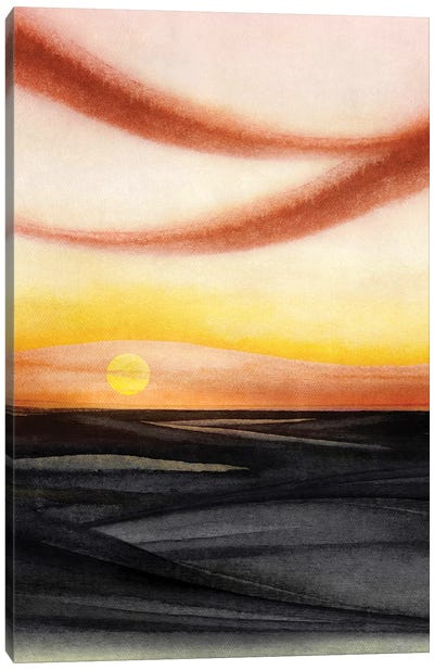 Abstract Watercolor Landscape V Canvas Art Print