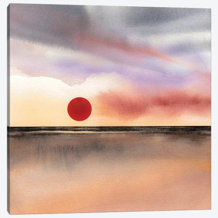 Red Sun II Canvas Print #GNZ80} by Marco Gonzalez Canvas Artwork