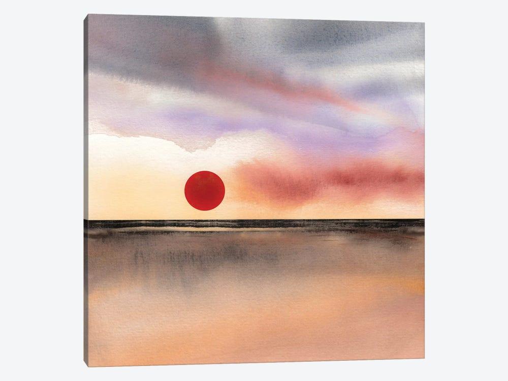 Red Sun II by Marco Gonzalez 1-piece Canvas Print