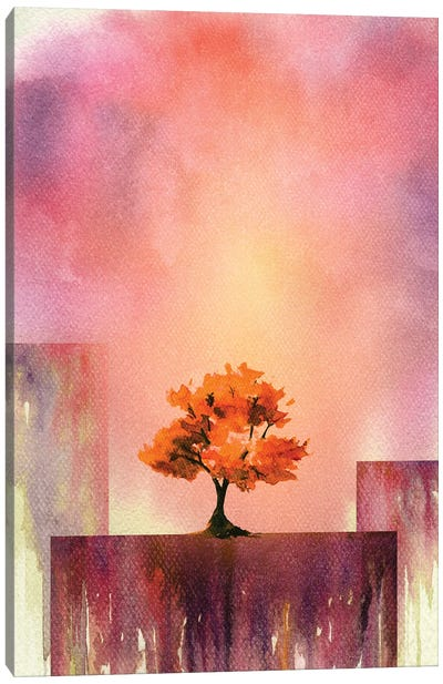 Tree And Mountains IV Canvas Art Print
