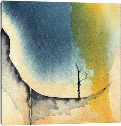 Tree And Mountains I Canvas Art Print