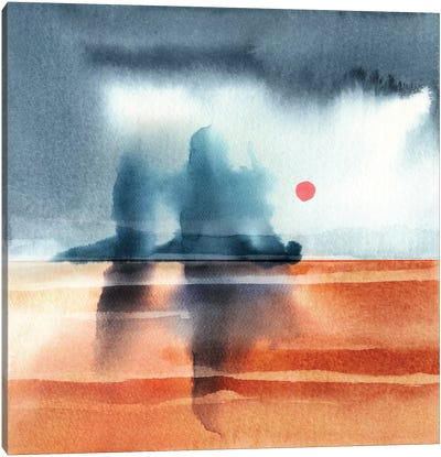 Abstract Watercolor Landscapes VI Canvas Art Print