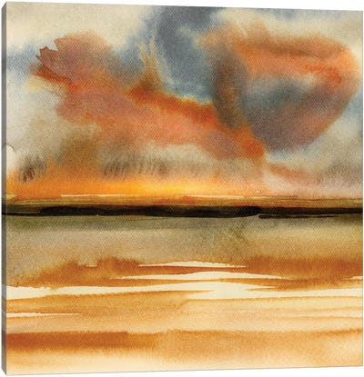 Abstract Watercolor Landscapes VII Canvas Art Print