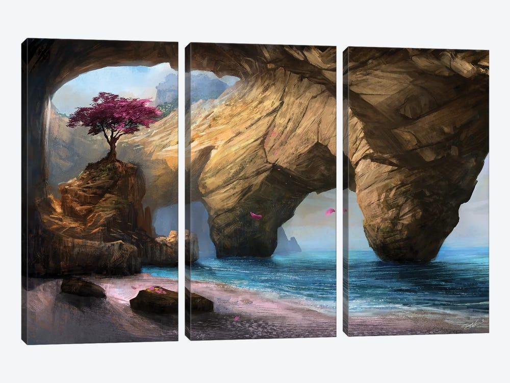 Fragility Of Life by Steve Goad 3-piece Canvas Art Print