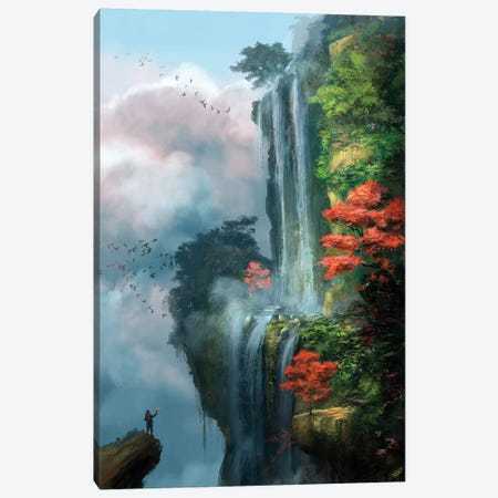 In The Clouds Canvas Print #GOA16} by Steve Goad Canvas Artwork