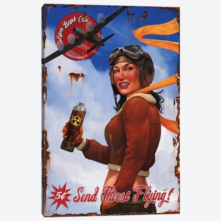 Send Thirst Flying Canvas Print #GOA24} by Steve Goad Canvas Art Print