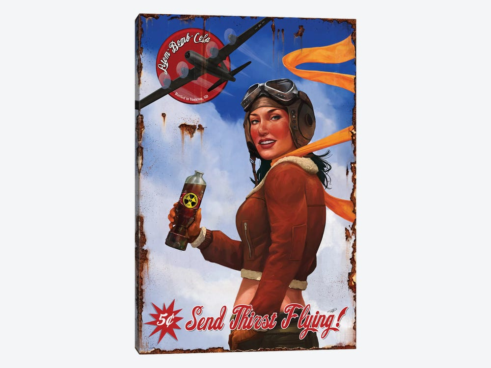 Send Thirst Flying by Steve Goad 1-piece Art Print