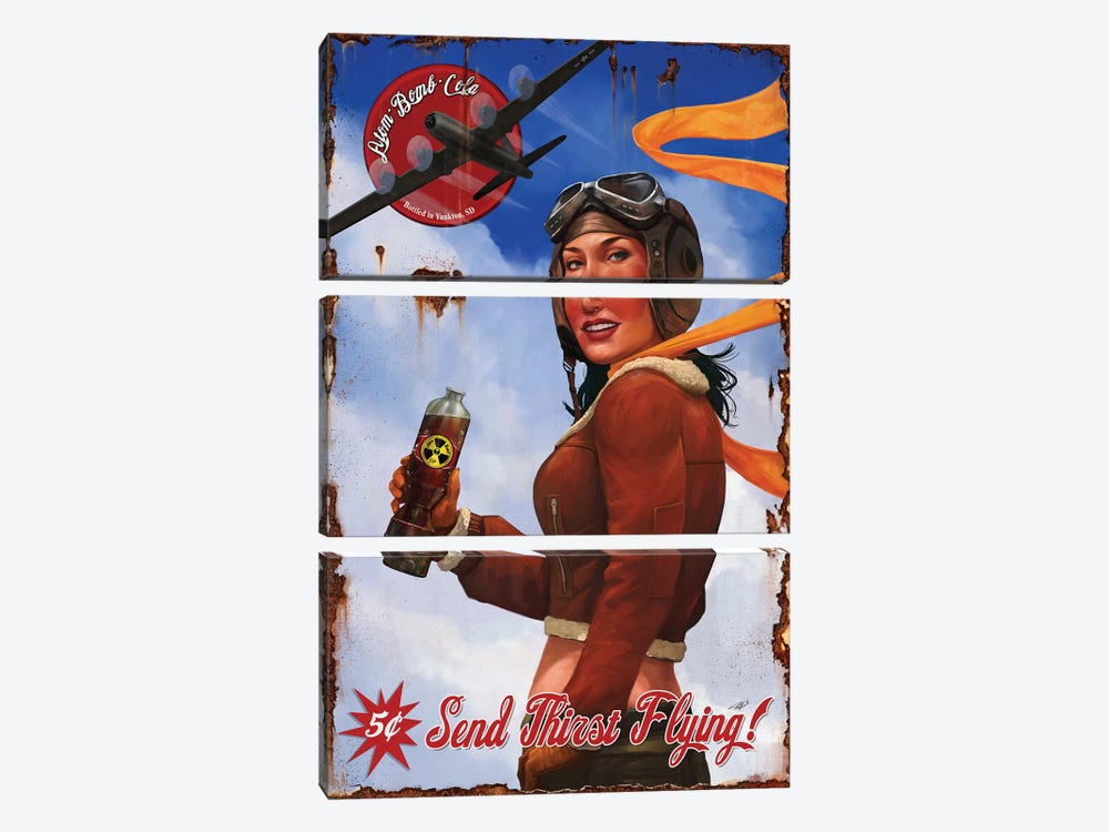 Send Thirst Flying by Steve Goad 3-piece Canvas Print