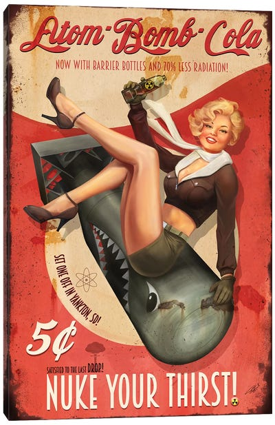 Atom Bomb Cola Canvas Art Print