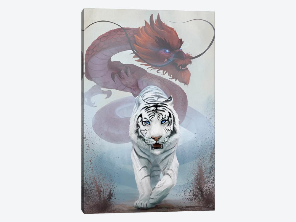 The Tiger And The Dragon by Steve Goad 1-piece Canvas Art