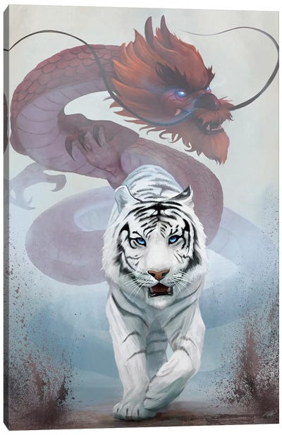 The Tiger And The Dragon Canvas Art Print